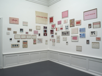 Red-Pink installation view